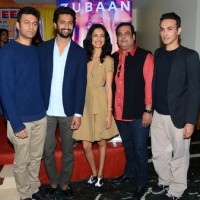 Sarah Jane Dias and Vicky Kaushal at Promotions of 'Zubaan'