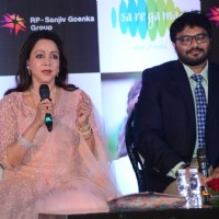 Hema Malini Reunites with Sholay Team at Babul Supriyo's Album Launch