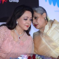Hema Malini and  Jaya Bachchan at Babul Supriyo's Album Launch