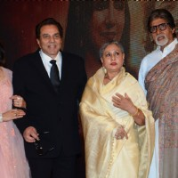Legendry Couple: Dharmendra - Hema  & Amitabh- Jaya at  Babul Supriyo's Album Launch