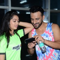Ali Mecchant and Digangana at BCL's Mumbai Tigers Practice Match