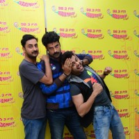 Pradhyuman Singh, Sikander Kher and Manish Paul at Promotions of 'Tere Bin Laden 2' at Radio Mirchi