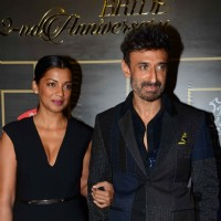 Mugdha Godse and Rahul Dev at Harper's Bazaar Bride Anniversary