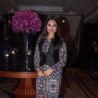 Sonakshi Sinha poses for the media at Shatrughan Sinha's Book Launch
