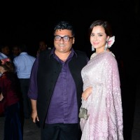 Simone Singh poses with Farhad Samar at Shobhaa De's Daughter's Wedding