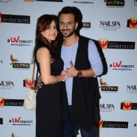 Rishika Mihani with Ali Merchant at the Promotions of Team Mumbai Tigers at Edward Maya Concert