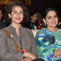 Manisha Koirala and Shaina NC at Cancer Survivor's Day 2016