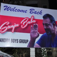 Banners Mounted in Bandra to Welcome back Sanjay Dutt post his release!