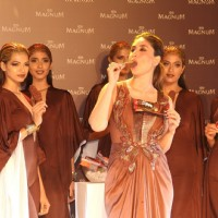 Kareena Kapoor Tastes 'Magnum' Ice Cream at Promotional Event