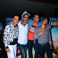 Ganesh Hegde and Mika Singh with Manish and Sikander at Special Screening of 'Tere Bin Laden 2'