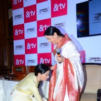 Amrita Rao Seek Blessings from Deepti Naval at Launch of &TV's 'Meri Awaaz Hi Pehchaan Hai'