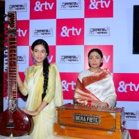 Amrita Rao and Deepti Naval at Launch of &TV's 'Meri Awaaz Hi Pehchaan Hai'