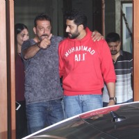 Abhishek Bachchan Meets Sanjay Dutt at his Residence!