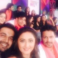 Ajay Chaudhary and Rashami Desai at the Curtain Raiser Shoot