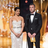 Priyanka Chopra presents the award at the Oscars