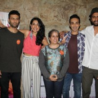 Saran Jane Dias and Vicky Kaushal at Special Screening of 'Zubaan'