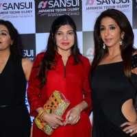 Alka Yagnik and Krishika Lulla at Anu Malik's Felicitation Ceremony