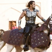 Salman Khan sitting on a horse | Veer Photo Gallery
