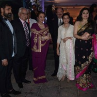 Ramesh Sippy and Kiran Juneja at Kresha Bajaj's Wedding