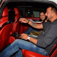 Sanjay Dutt and Manyata Dutt attends Dinner at Rajkumar Hirani's Residence