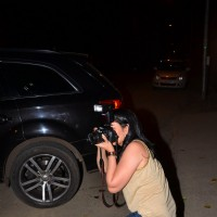 Spotted: Manyata Dutt turns into a media person before attending dinner at Rajkumar Hirani's home