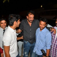 Spotted: Sanjay Dutt attends Dinner at Rajkumar Hirani's Residence