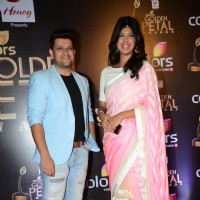 Rohit Nag and Aishwarya Sakhuja at Golden Petal Awards 2016