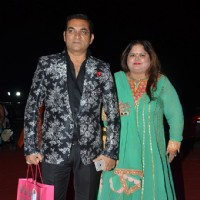 Singer Abhijeet Bhattacharya with Wife at Awdesh Dixit's Indore Bash