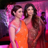 Shilpa Shetty and Tabu at Awdesh Dixit's Indore Bash