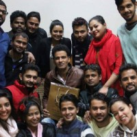 Manoj Bajpayee Distributes DVD's among School Students