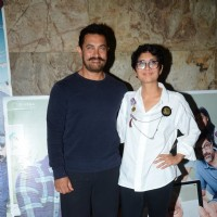 Aamir Khan and Kiran Rao at Screening of Kapoor & Sons