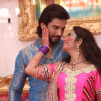 Manish Raisinghan and Avika Gor at Colors Holi Celebrations