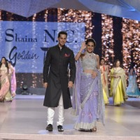 Dino Morea and Tara Sharma on Ramp of CPAA Fevicol Show