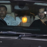 Dino Morea arrives for India Vs Aus Screening at Ritesh Sidhwani's House