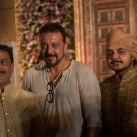 Sanjay Dutt attends Wedding Reception of MLA Naseem Khan's son Aamir Khan