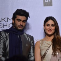 Kareena Kapoor and Arjun Kapoor at Lakme Fashion Show 2016