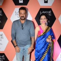 Sanjay Dutt and Manyata Dutt at Lakme Fashion Show 2016 - Day 4