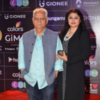 Ramesh Sippy and Kiran Juneja at COLORS GiMA AWARDS 2016