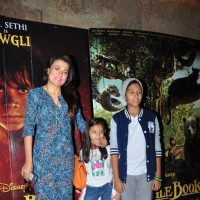 Mini Mathur with her children at Special Screening of 'The Jungle Book'