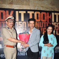Divya Dutta and Manoj Bajpayee at Trailer Launch of 'Traffic'