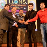 Gurmeet Choudhary felicitated at Lions Platinum Star Awards