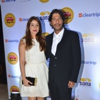 Chunky Pandey with Wife Bhavna at Magic Bus Charity Event