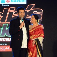 Karan Johar and Kirron Kher at the Launch Of the show 'India's Got Talent'