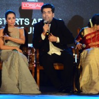 Malaika Arora Khan, Karan Johar and Kirron Kher at the Launch Of the show 'India's Got Talent'