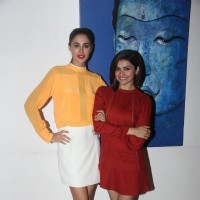 Prachi Desai and Nargis Fakhri at Media Interactions of Azhar