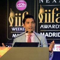 Farhan Akhtar at the Press Meet of 'IIFA'
