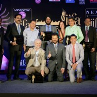 Anil Kapoor and Farhan Akhtar at the Press Meet of 'IIFA'