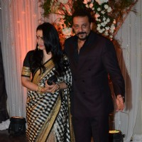 Sanjay Dutt and Bipasha Basu grace the Wedding Reception of Karan Singh-Bipasha Basu.