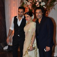Abhay Deol and Bobby Deol at Karan - Bipasha's Star Studded Wedding Reception