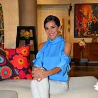 Tara Sharma on the sets of her show